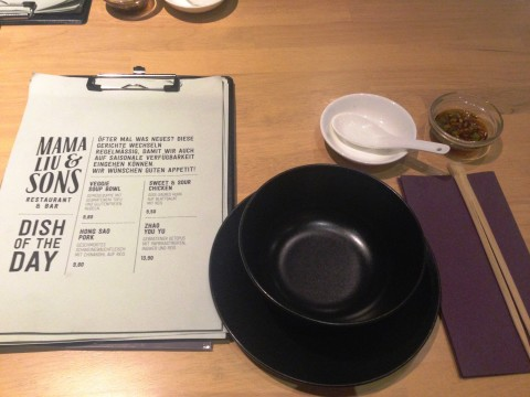 Tisch und Karte Mama Liu