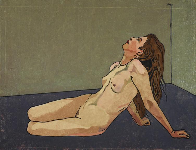 Karl Anton Reichel, Weibliche Aktstudie, 1909