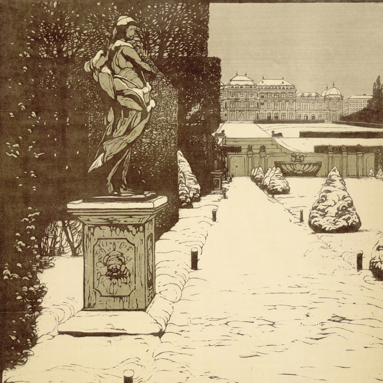 Carl Moll, Belvederegarten im Winter, 1903