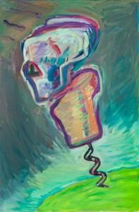 """Maria Lassnig, """"Korkenziehermann (Tod)"""", 1986-1987"""