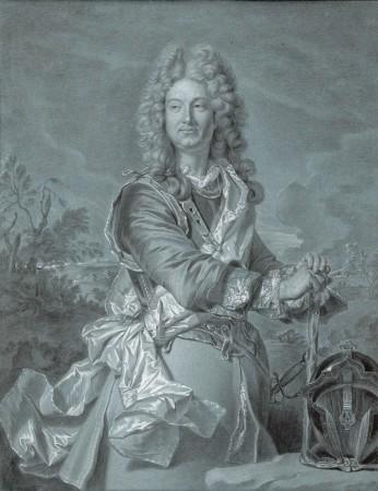 "Hyacinthe Rigaud, ""Porträt eines Maréchal de France"", um 1740"