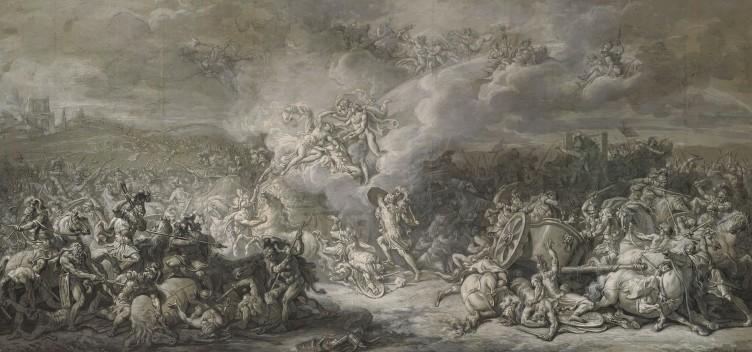 """Jacques-Louis David, """"Die Kämpfe des Diomedes"""", 1776"""