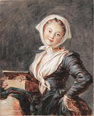 """Jean-Honoré Fragonard, """"Das Mädchen mit dem Murmeltier"""", 1780er Jahre"""