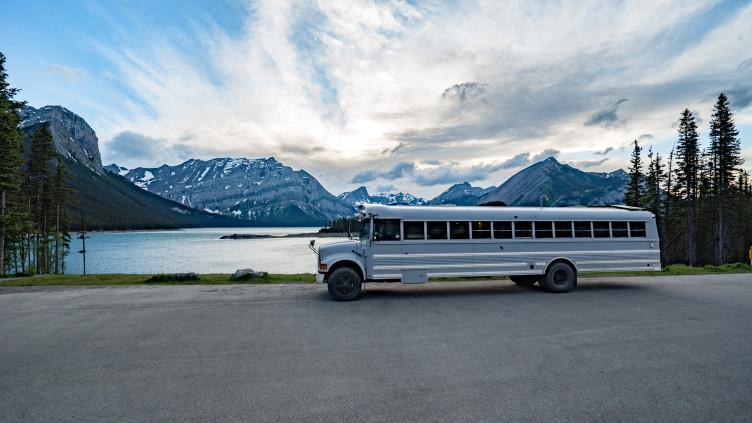 Schulbus Alaska Mexiko