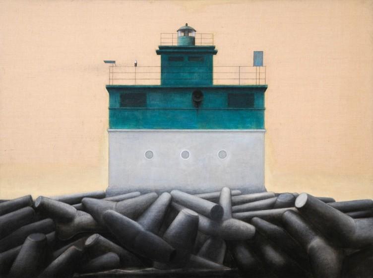 Eduard Angeli Leuchtturm, grün