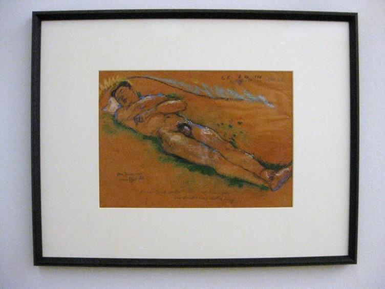 """""""Der Traum vom Glück"""". Am Rücken liegender, männlicher Akt (Rudolf Baurecht), 1943/44"""