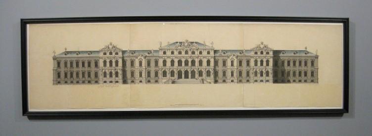 Francesco Bartolomeo Rastrelli, Ansicht des Residenzschlosses von Mitau, 1738