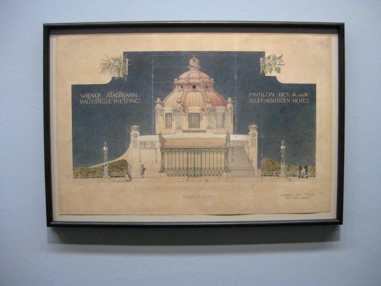 Joseph Maria Olbrich, Asicht des Hofpavillons der Stadtbahn in Wien-Hietzing, 1896/97