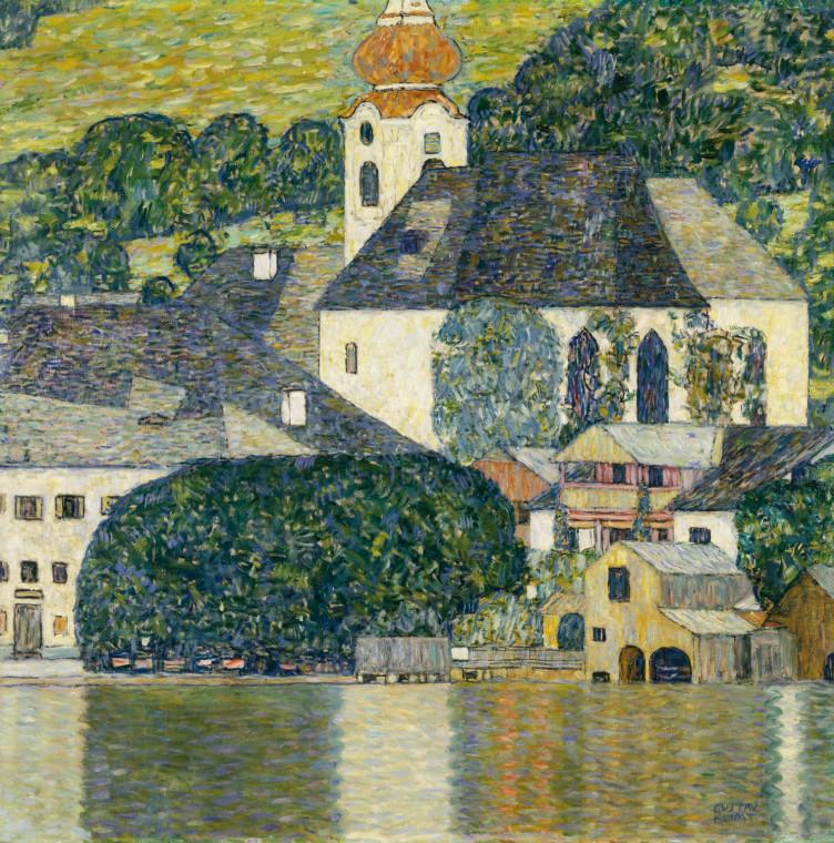 Gustav Klimt, Kirche im Unterach am Attersee,, 1916